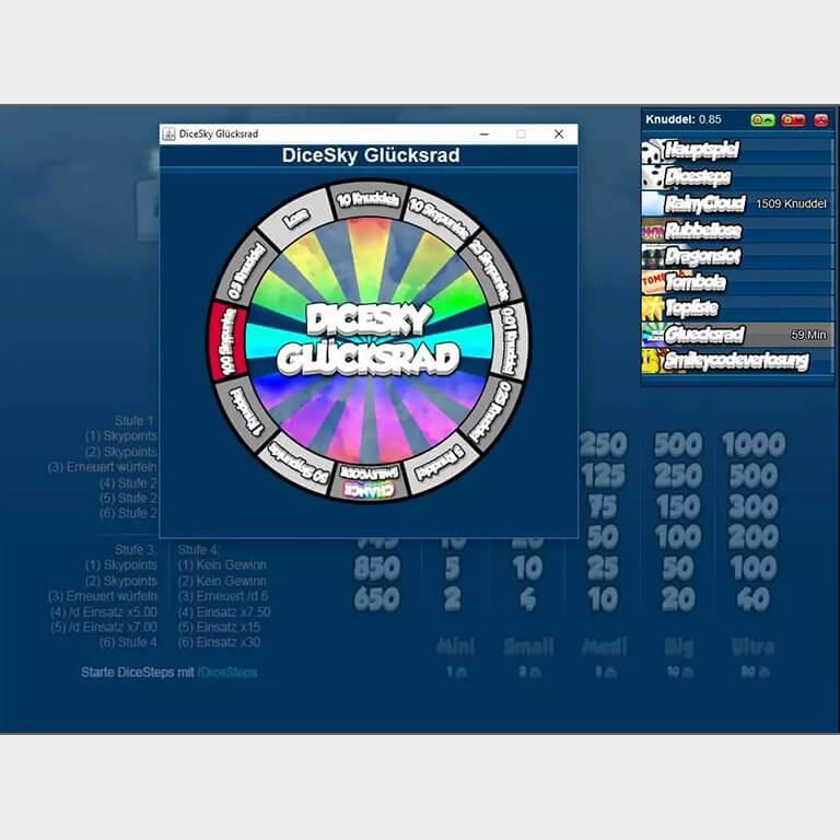 Abbildung einer UserApp aus dem Channel DiceSky.