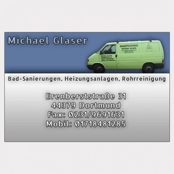 Abgebildet ist ein Screenshot der Referenz-Visitenkarte Michael Glaser