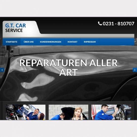 Abgebildet ist ein Screenshot der Referenz-Webseite G.T. Car - Service