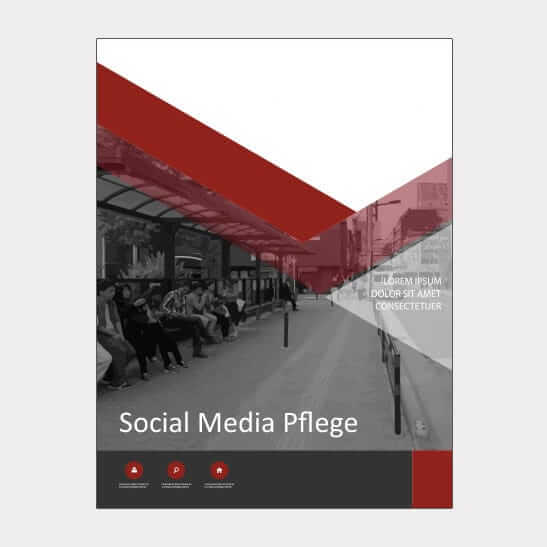 Abgebildet ist eines unserer Werbemittel in Form von Broschueren