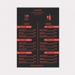 Abgebildet ist eines unserer Werbemittel in Form von Speisekarten