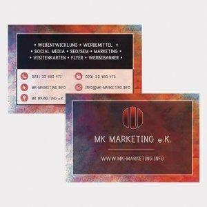 Abgebildet ist eines unserer Werbemittel in Form von Visitenkarten