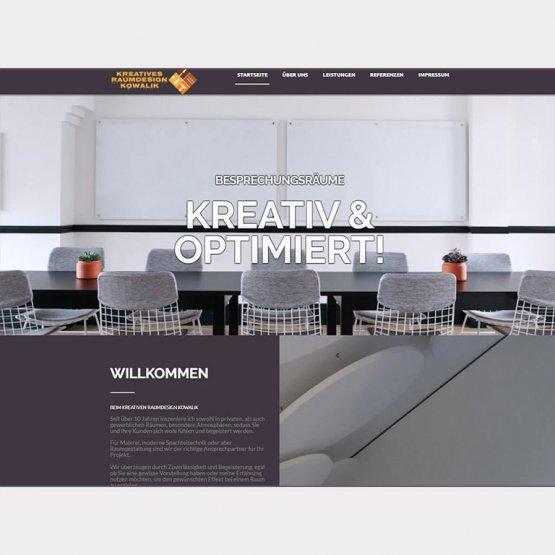 Abgebildet ist ein Screenshot der Referenz-Webseite