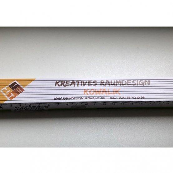 Abgebildet ist ein Screenshot des Referenz-Zollstocks Raumdesign Kowalik