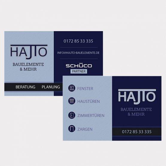 Abgebildet ist ein Screenshot der Referenz-Visitenkarte Hajto Bauelemente & mehr