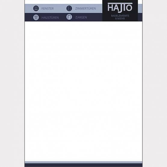 Abgebildet ist ein Screenshot des Referenz-Briefpapiers Hajto Bauelemente & mehr