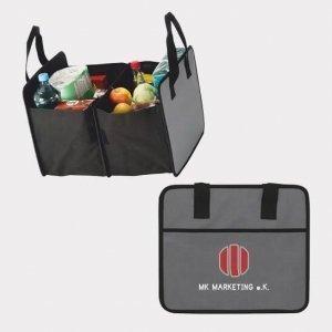 Abgebildet ist eines unserer Werbemittel in Form einer Kofferraumtasche