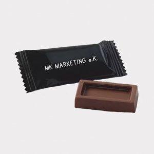 Abgebildet ist eines unserer Werbemittel in Form von Schokoladentafeln