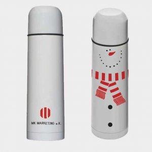 Abgebildet ist eines unserer Werbemittel in Form einer Thermoflasche