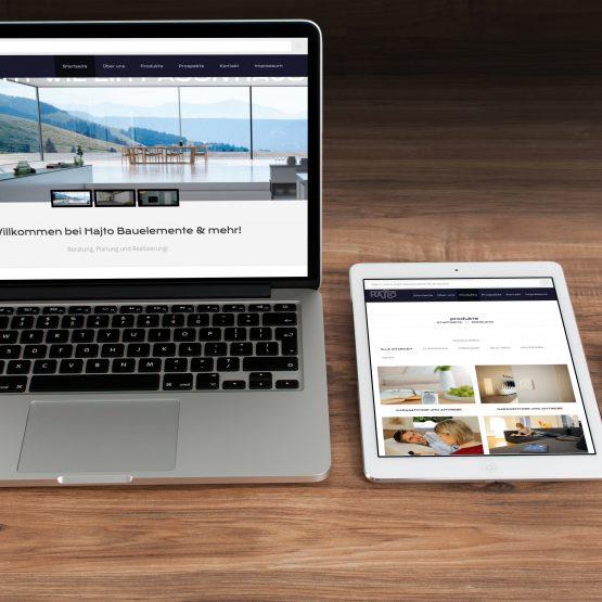 Abgebildet ist ein Screenshot der Referenz-Webseite Hajto