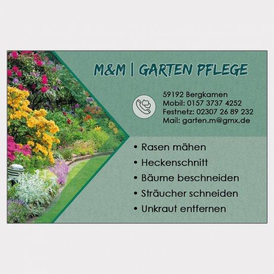 Abgebildet ist ein Screenshot der Referenz-Visitenkarte M&M