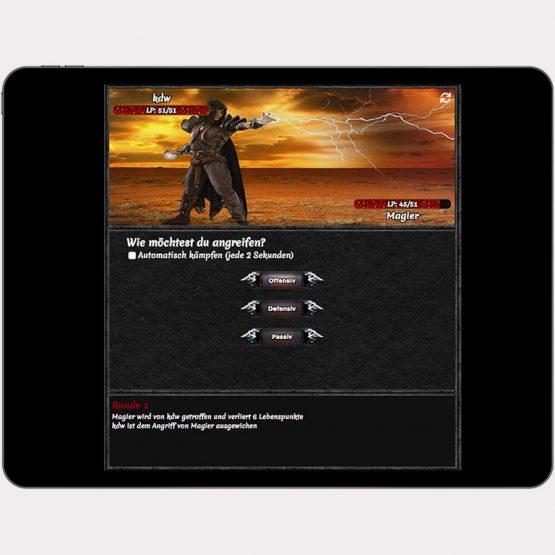 """Abgebildet ist ein Screenshot der Referenz-App """"BeastFight"""""""