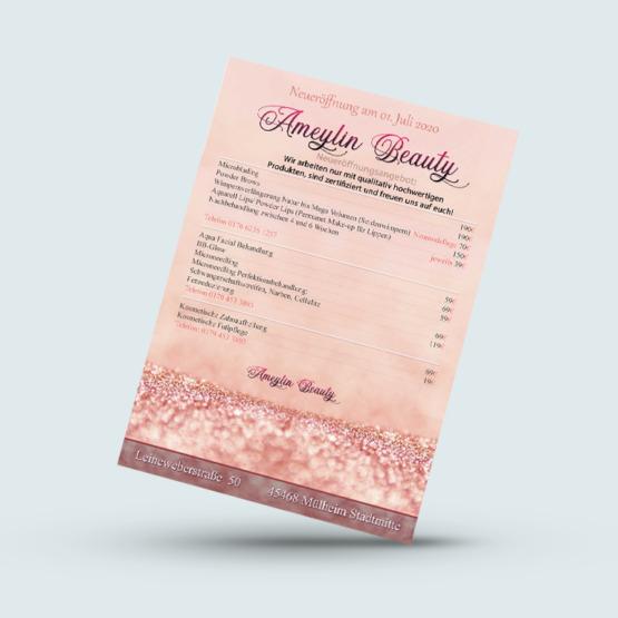 Referenz Flyer Ameylin Beauty