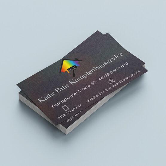 Kadir Bilir Komplettbauservice - Visitenkarten
