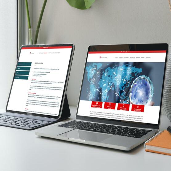 Referenzbild Webseite advise logistic GmbH